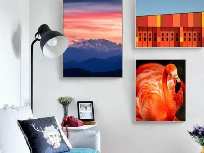 现代简约风格客厅挂画