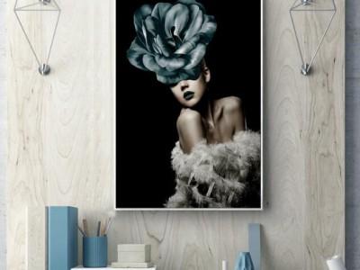 艺术摄影性感人物装饰画