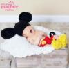 欧美摄影风格服装儿童摄影毛线米奇服饰婴幼儿毛线卡通毛衣