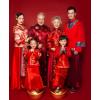 2018新款儿童摄影服装 影楼古装复古中国风 全家福主题拍照服饰