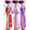 中国风拍照摄影清朝格格公主娘娘小姐粉红黄紫色衣服装成年大人新