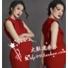 668时尚复古孕照大肚照摄影写真服装影楼拍孕妇照摩登红裙礼服